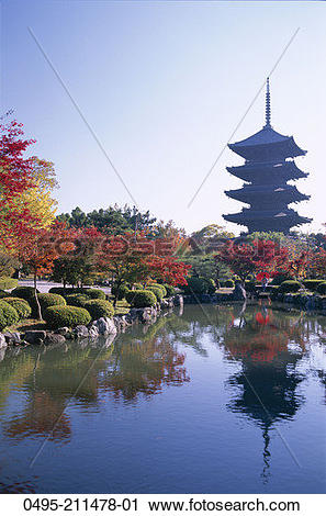 Stock Photography of Japan, Kyoto, Honshu, Toji Temple (Kyo.