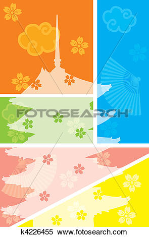 Clipart of Five Story Pagoda k4226455.