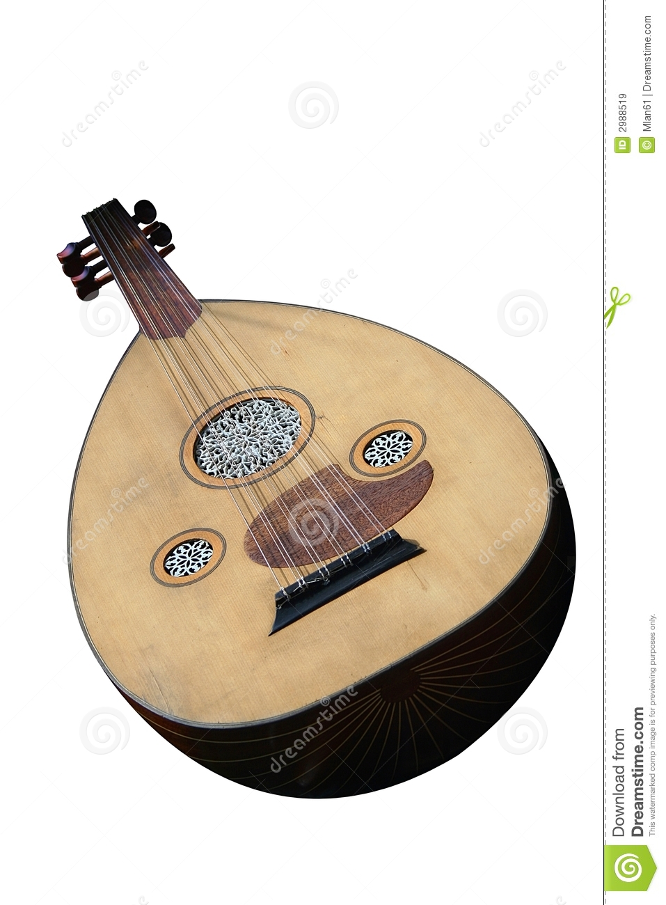 Lute Stringed Instrument Royalty Free Stock Images.