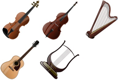 Orchestral Strings Clipart.