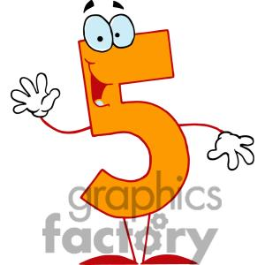 Number 5 clipart images free.