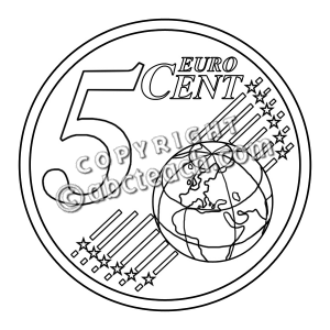 5 Cents Clipart.