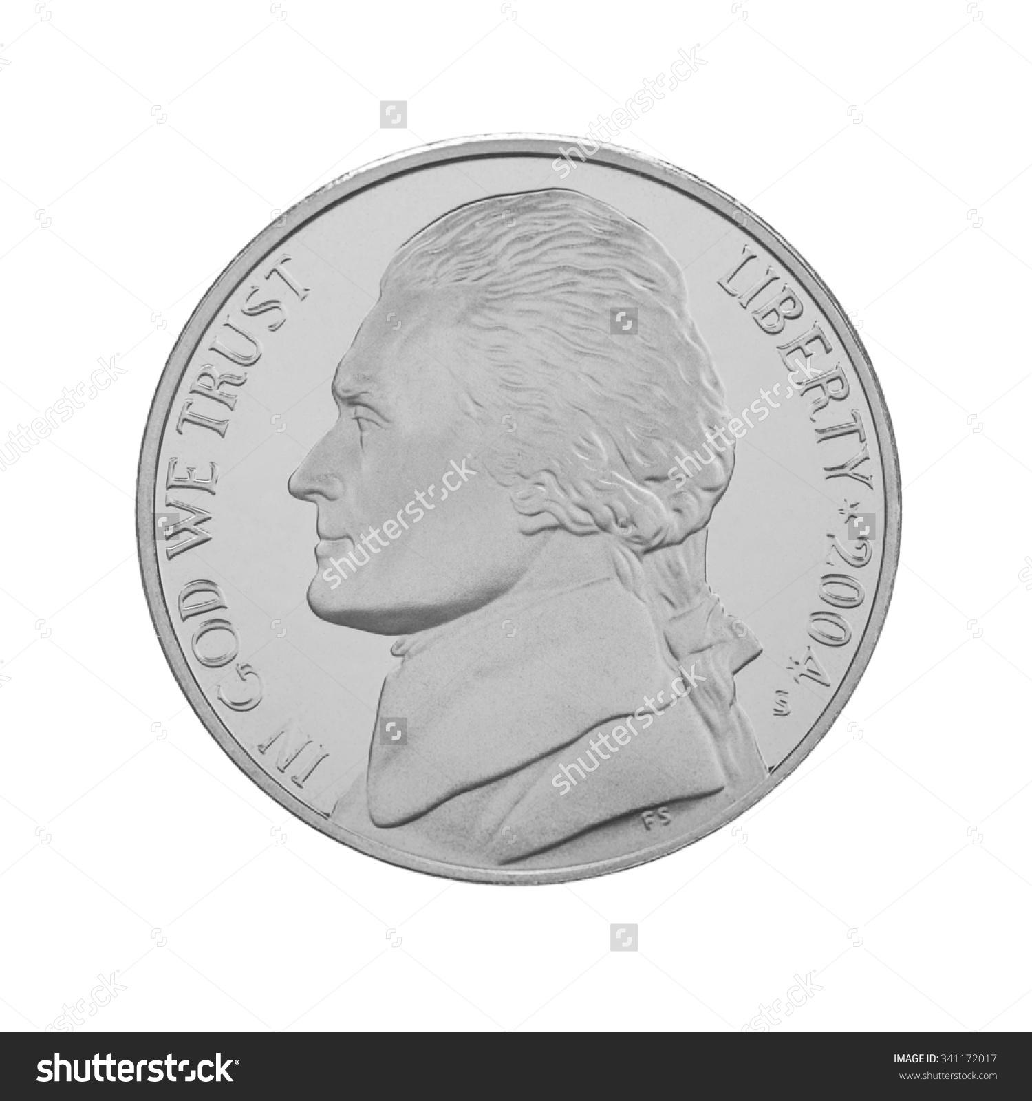 Five Cents Clip Art.