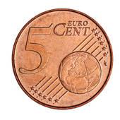 Stock Photograph of Five euro coin k8284789.