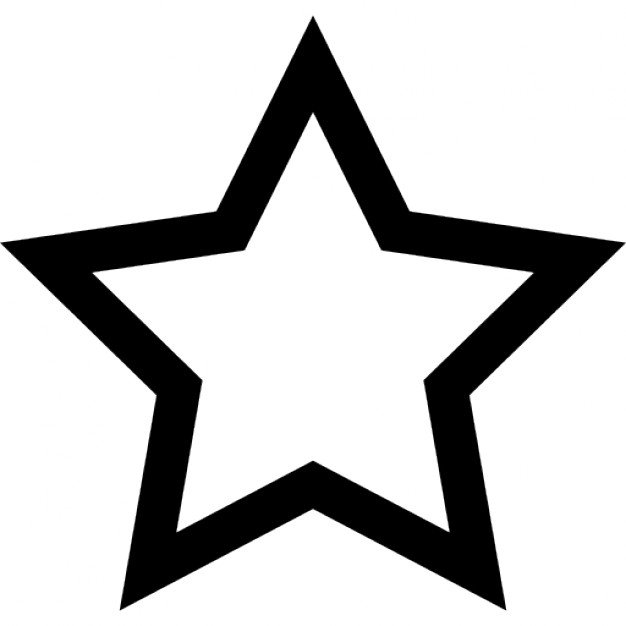 Five-pointed star clipart #20
