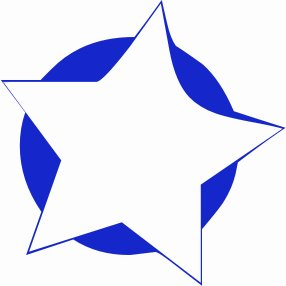 Military five point star clipart.