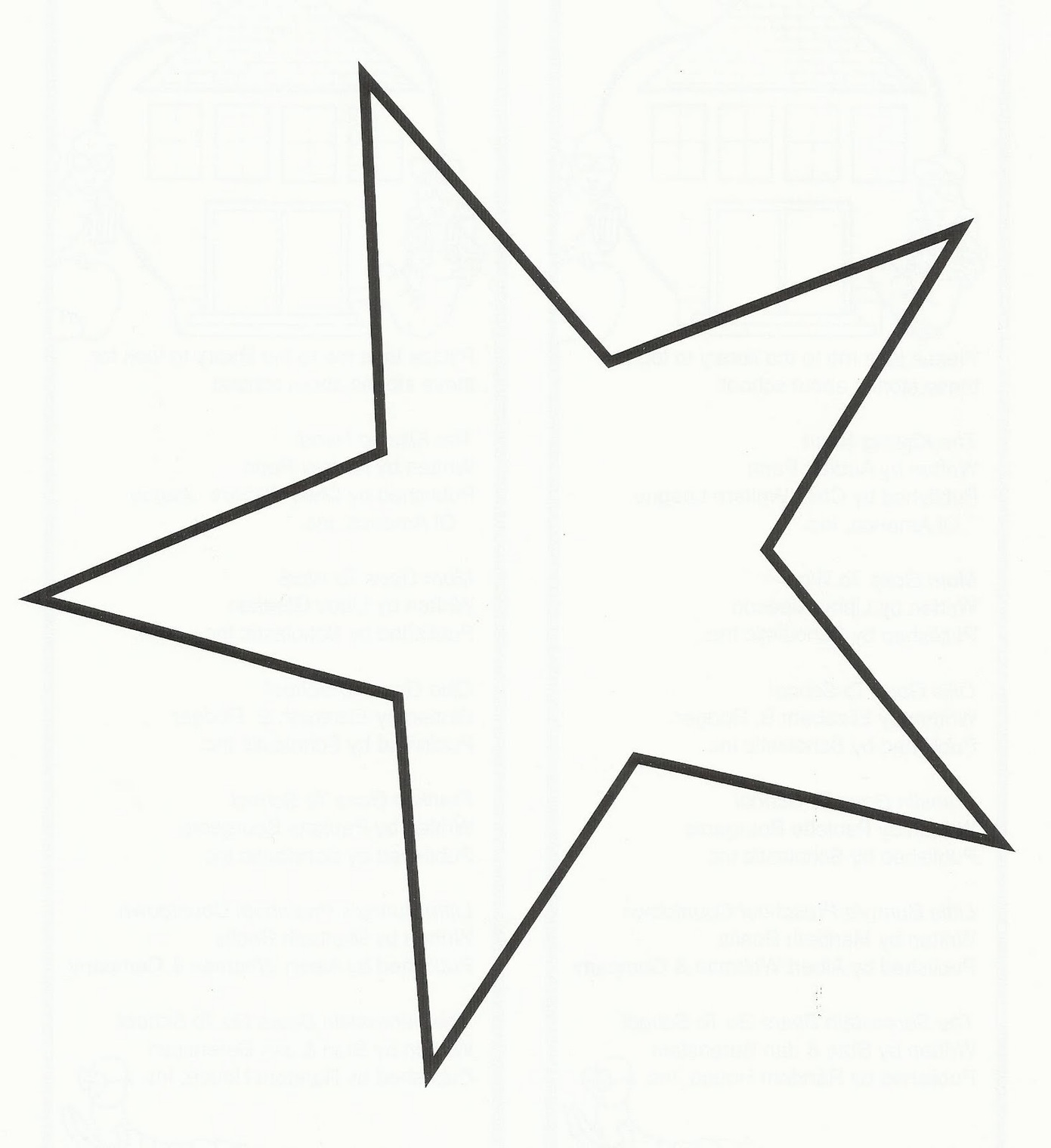 Star outline images five pointed star outline picture for print.
