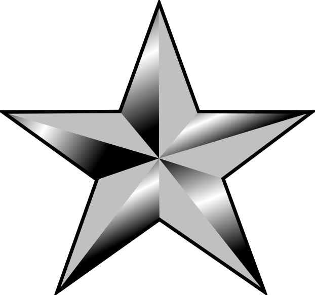 Army Star Clipart.