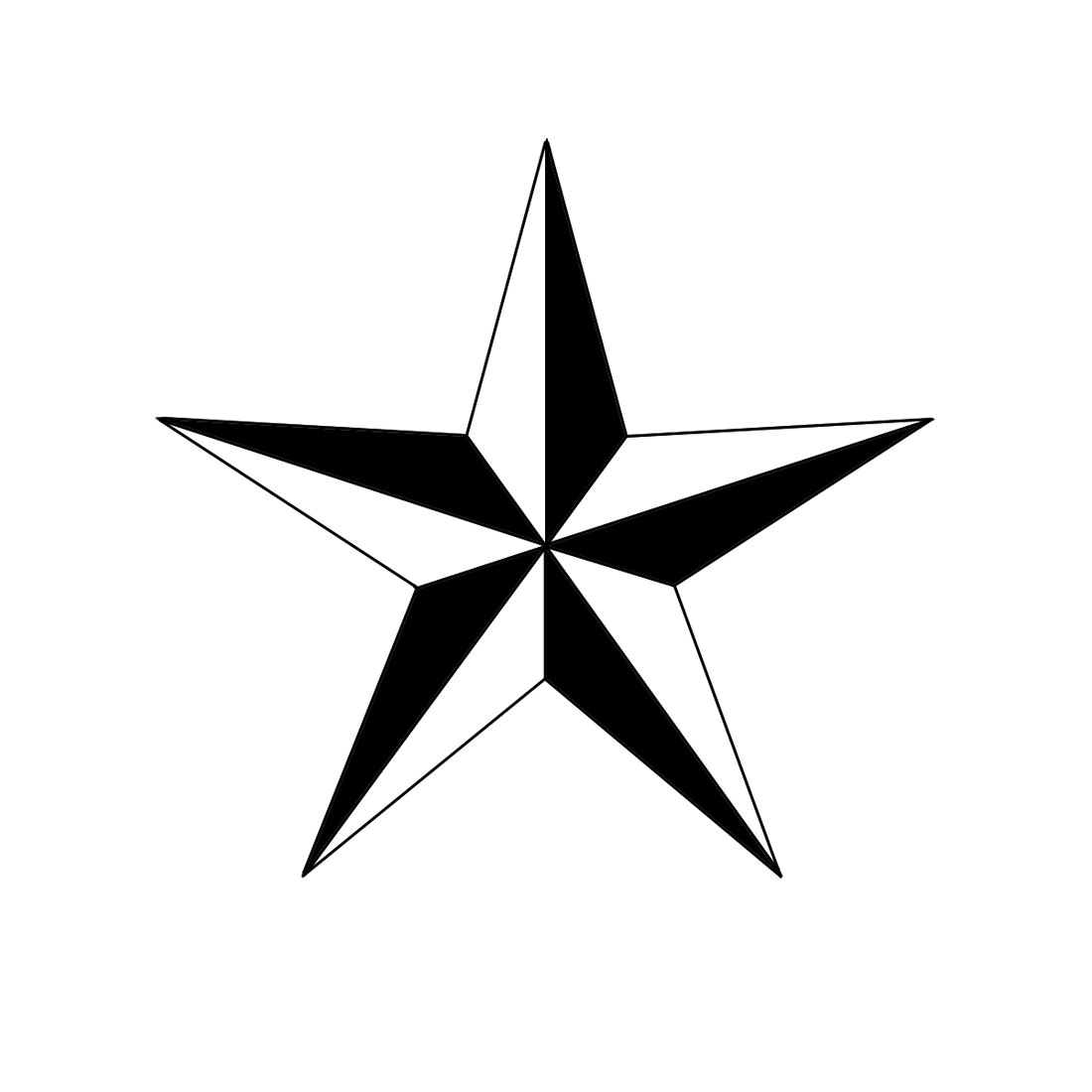 Draw Five Point Star.
