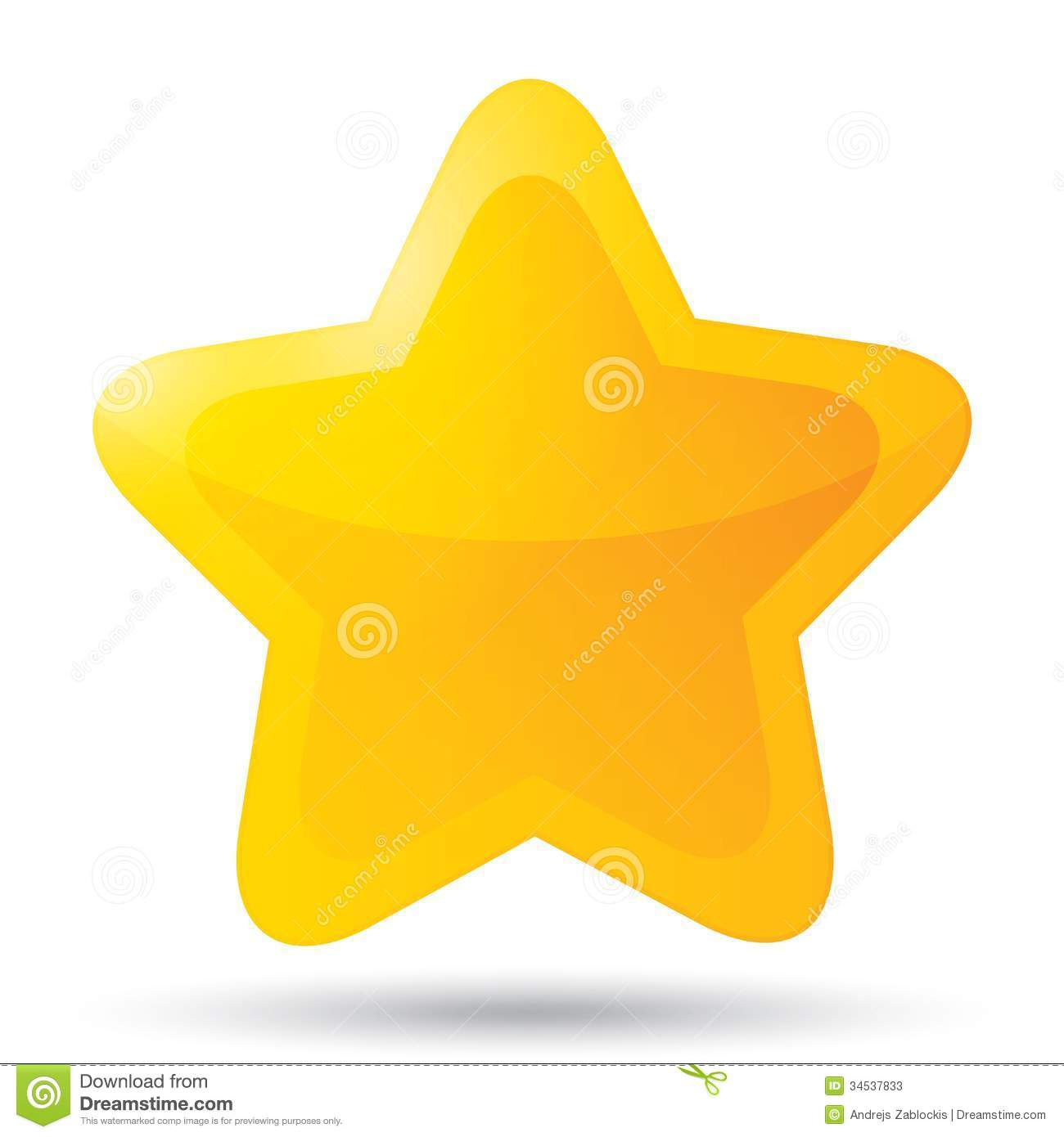 Pink five point star clipart.