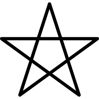 Five-pointed star clipart #12