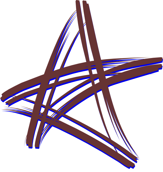 Five-pointed star clipart #10