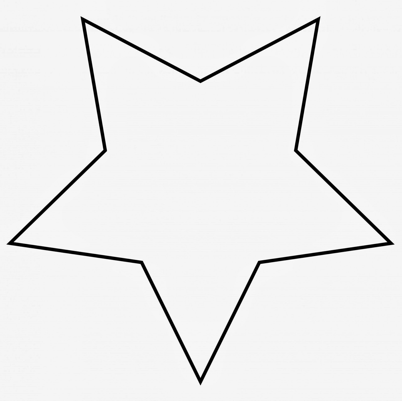 5 point star badge clipart.