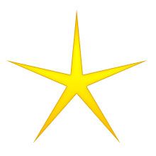 Gold Christmas Star Clipart.