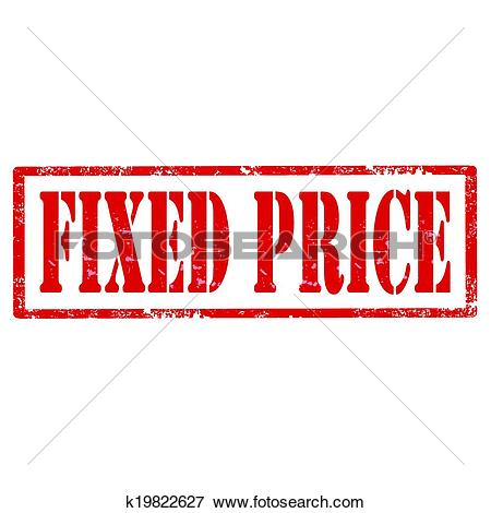 Clip Art of Fixed Price.