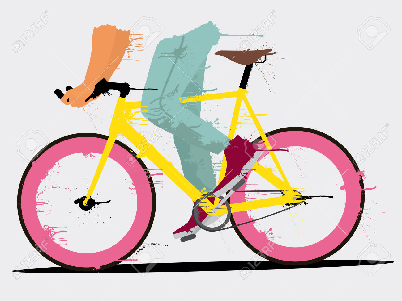 Background With Fixed Gear Bicycle Royalty Free Cliparts, Vectors.