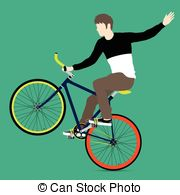 Fixed gear bicycle Clipart Vector and Illustration. 273 Fixed gear.