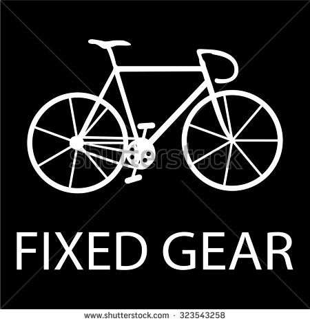 Fixed gear clipart.