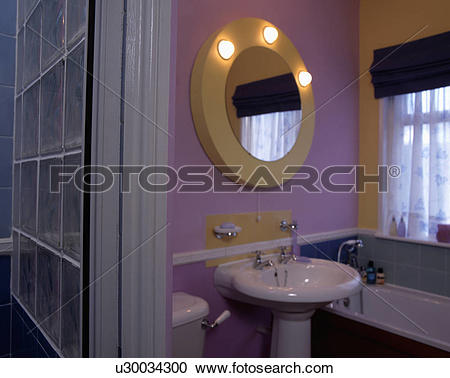 Stock Photography of basin, interior, lighting, fixed, mirror.