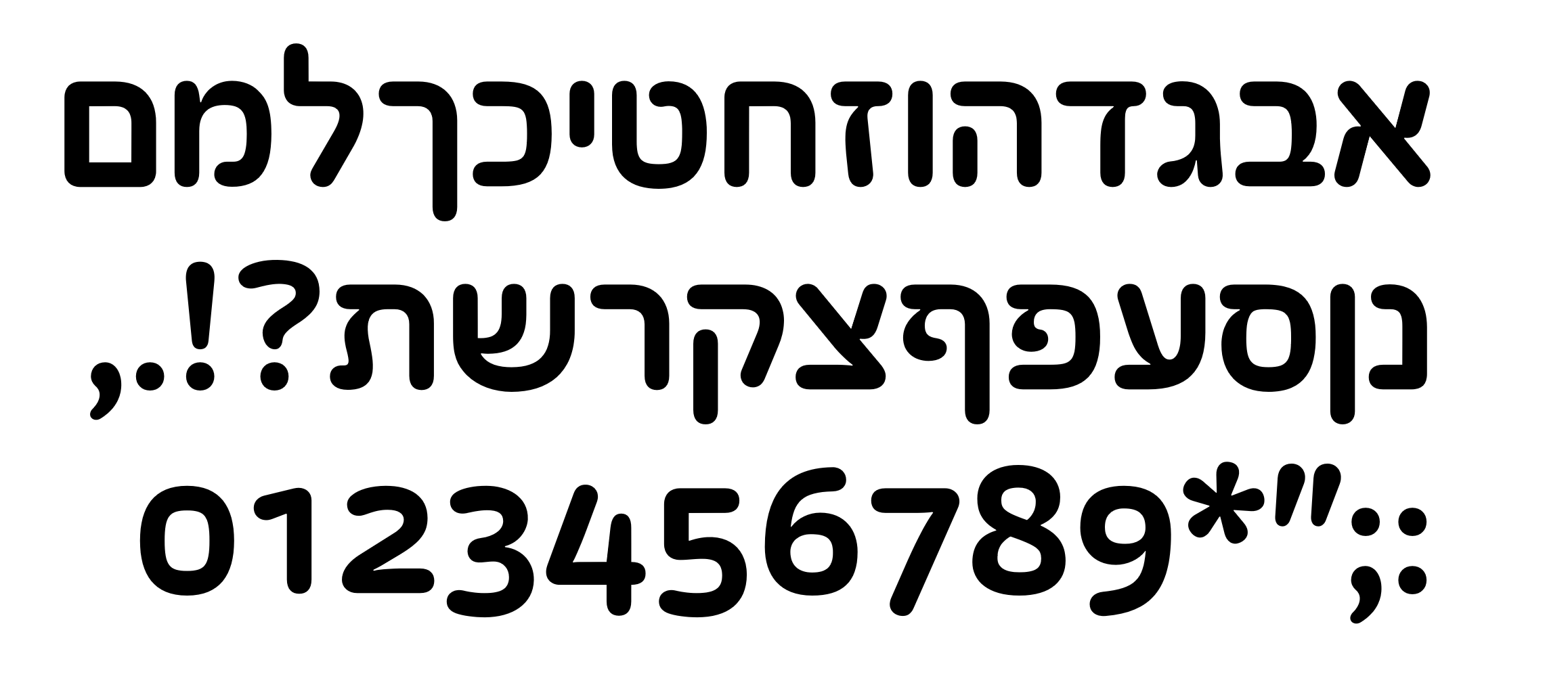 Fixed Stroke Width and Hebrew — TypeDrawers.