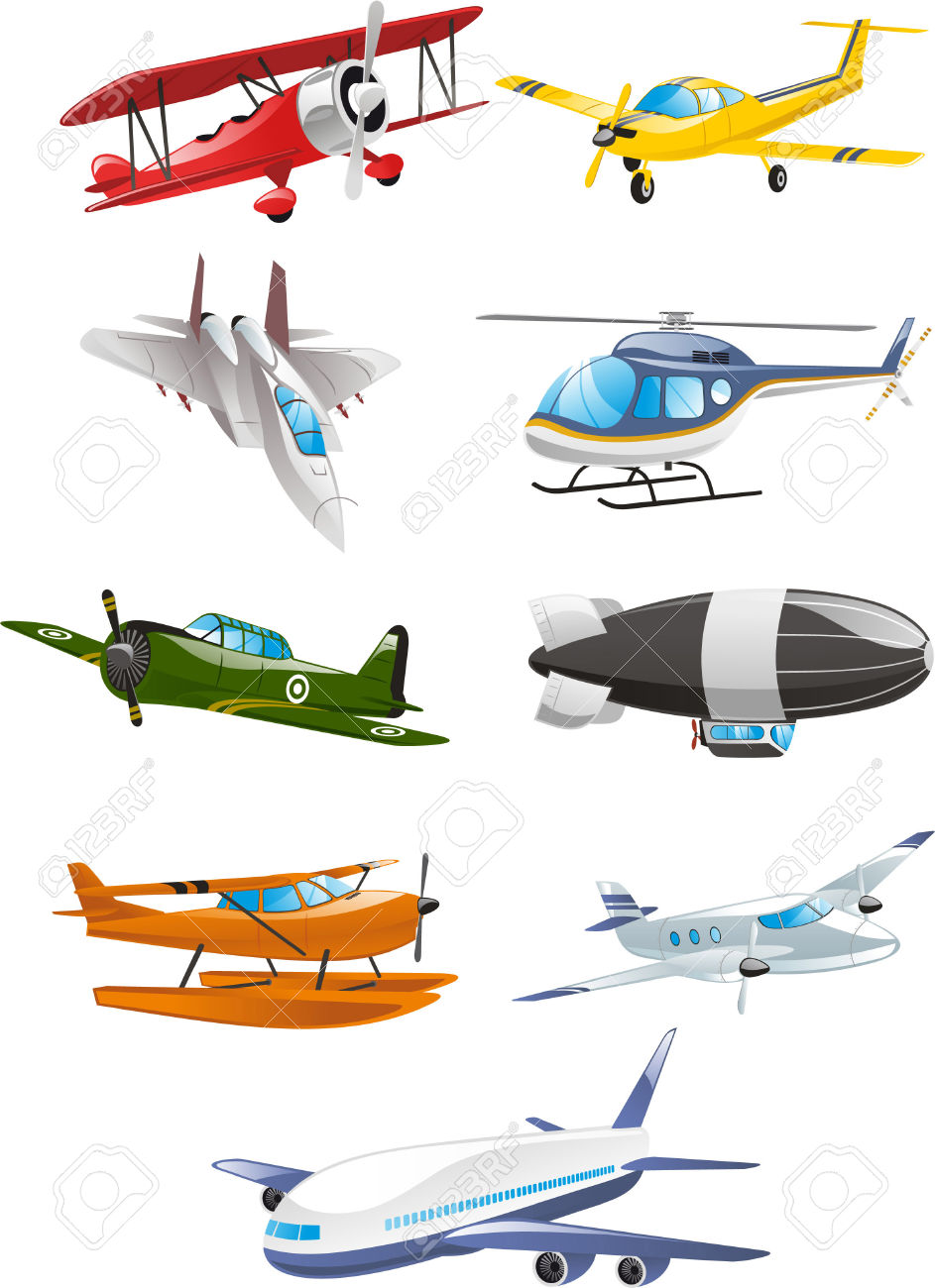 Airplane Collection, With Aircraft, Airbus, Airliner, Large.