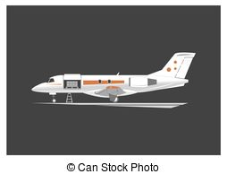 Vector Clip Art of Cargo Plane Isolated. Freight Aircraft.