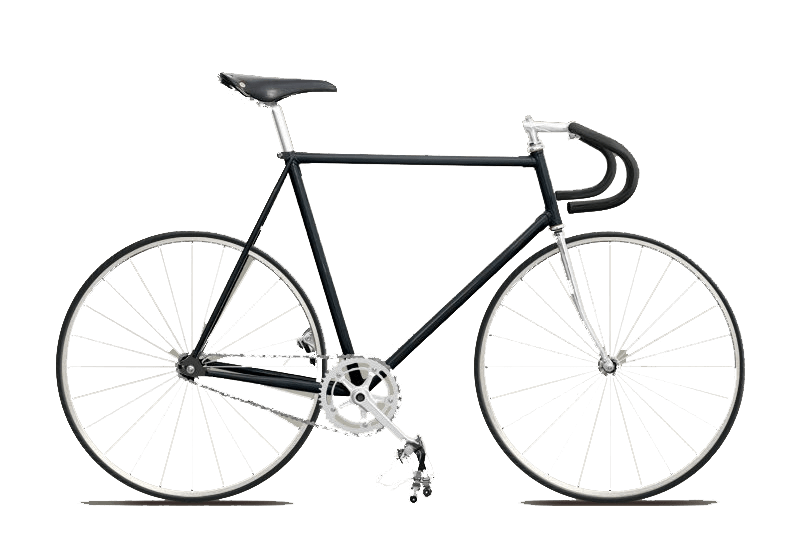 Hipster Fixie Bike transparent PNG.