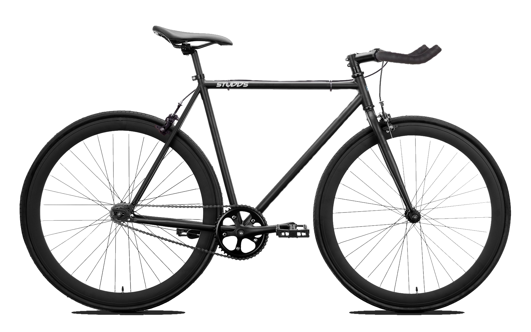 2019 Studds Matte Black Fixie/Singlespeed (Bull Horn Bar).