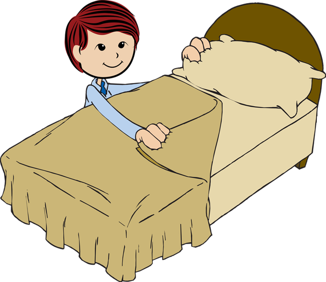Fixing bed clipart.