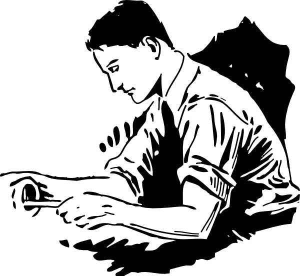Handy Man Fixing clip art Free vector in Open office drawing svg.