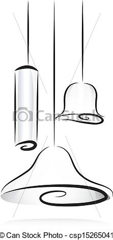 EPS Vector of Light Fixtures in Black and White.