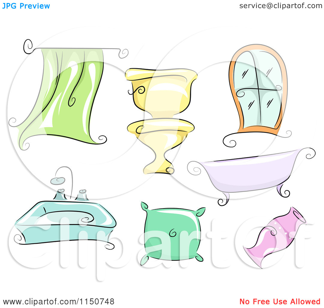 Cartoon of Household Accessories and Fixtures.