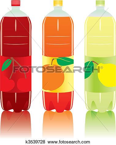 Clipart of carbonated drink bottles k3539750.
