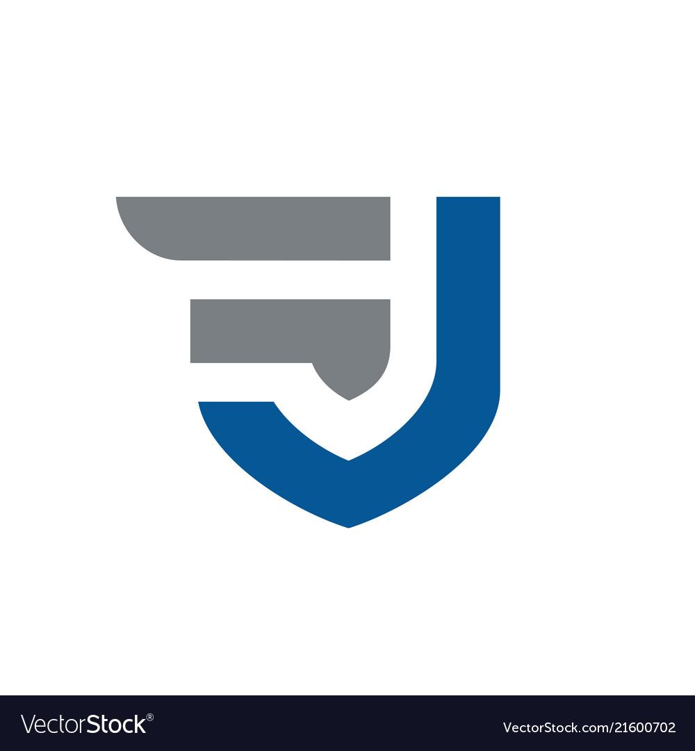 Initial letters fj or jf logo design.