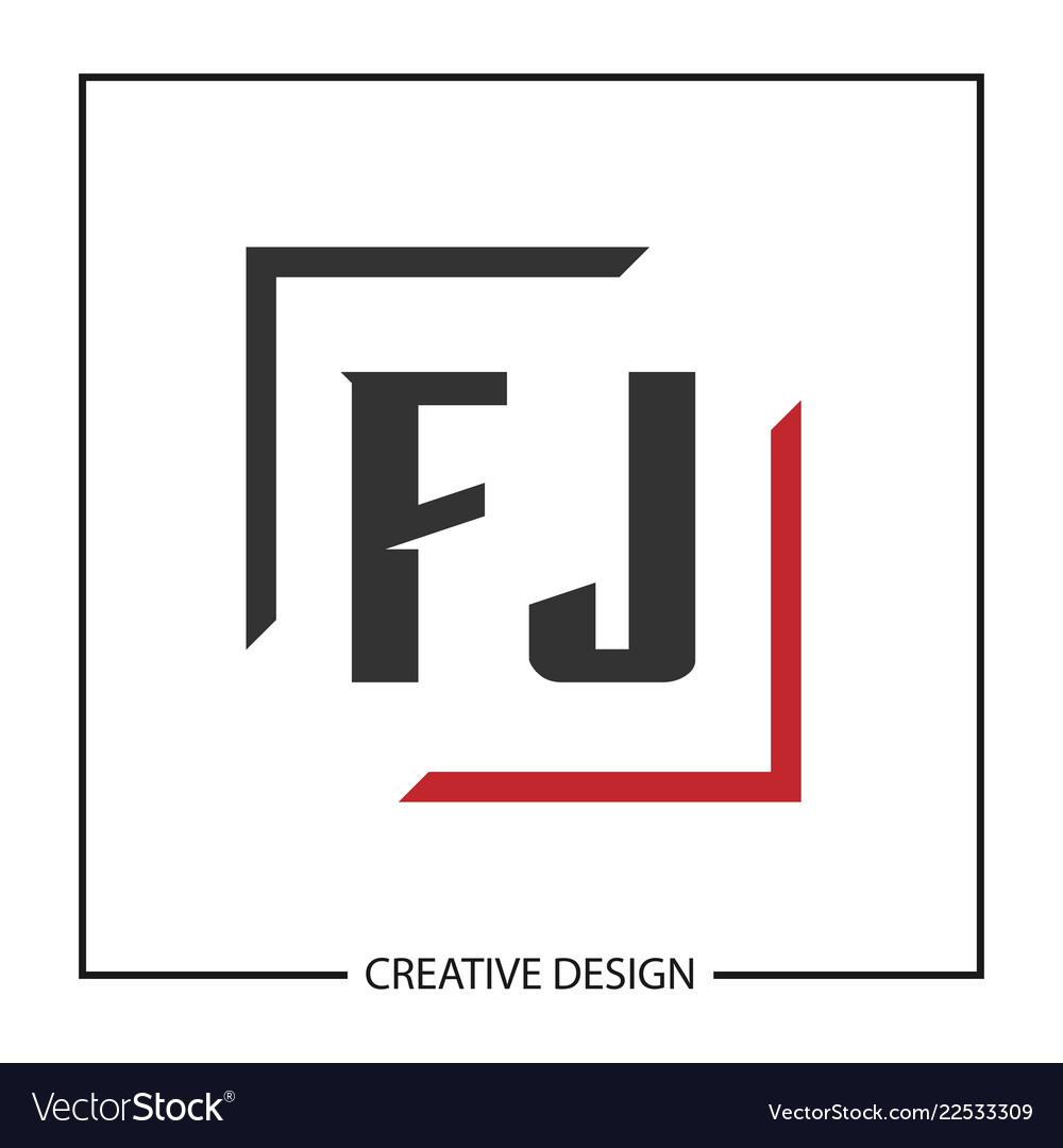 Initial letter fj logo template design.