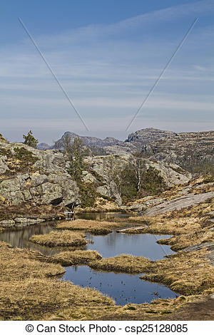 Pictures of Moor Lake on the Preike Solli Fjell.