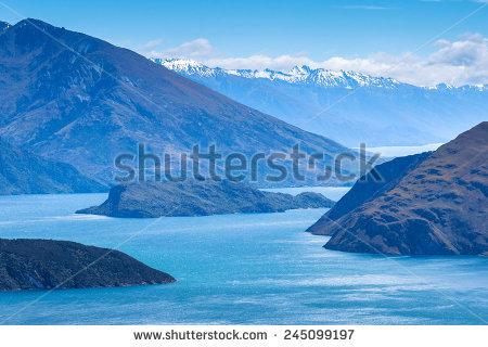 New Zealand Fjords Clip Art.