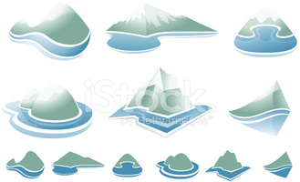 Fjords Mountains and Water stock vectors.