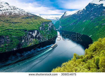 Fjord clipart.