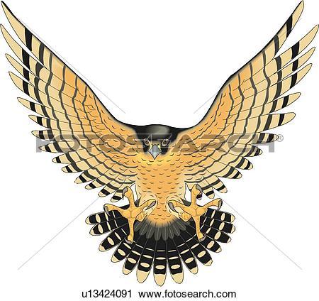 Clip Art of Eagle Falcon Symbol u10259348.