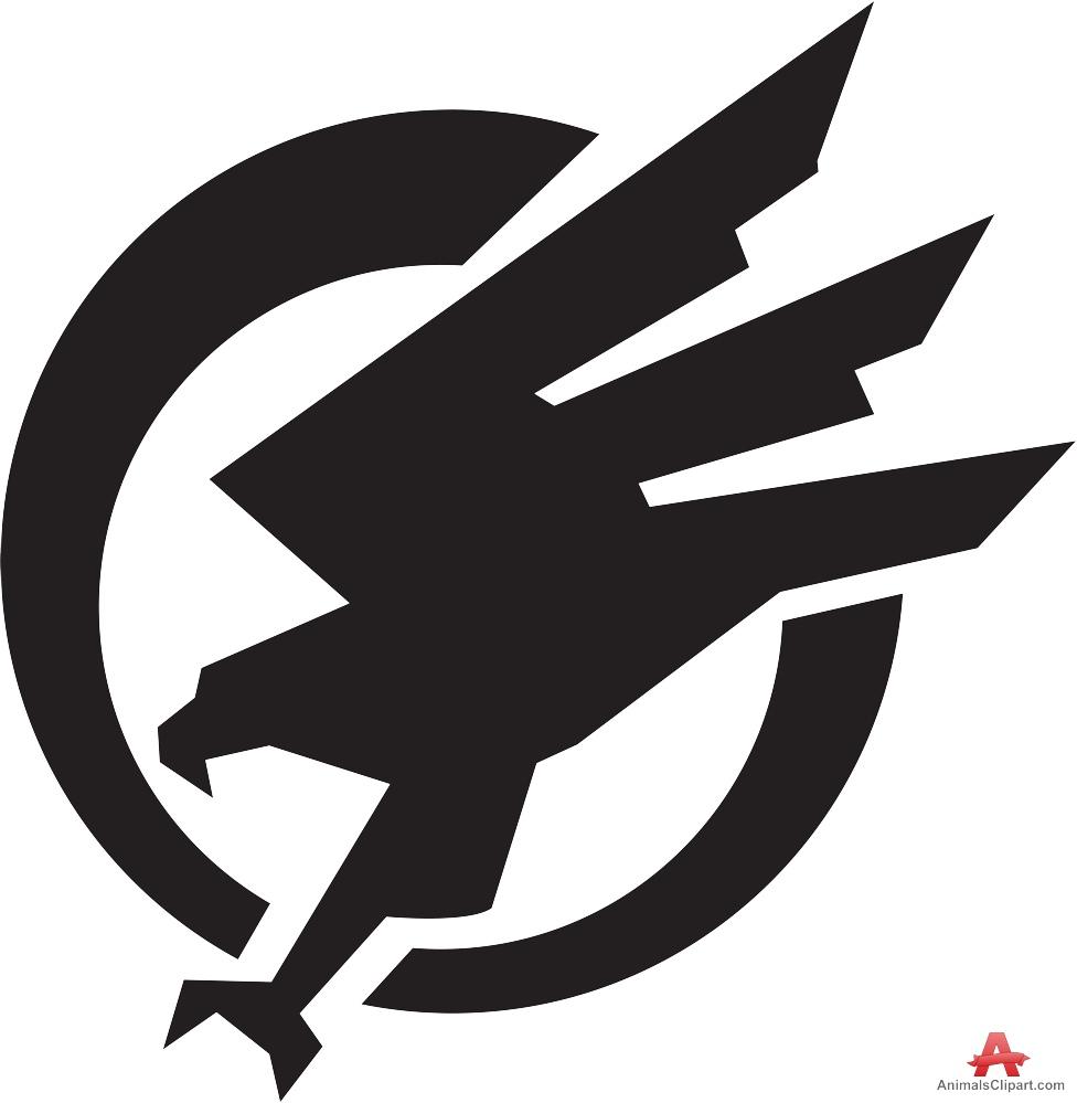 Falcon clipart 2.