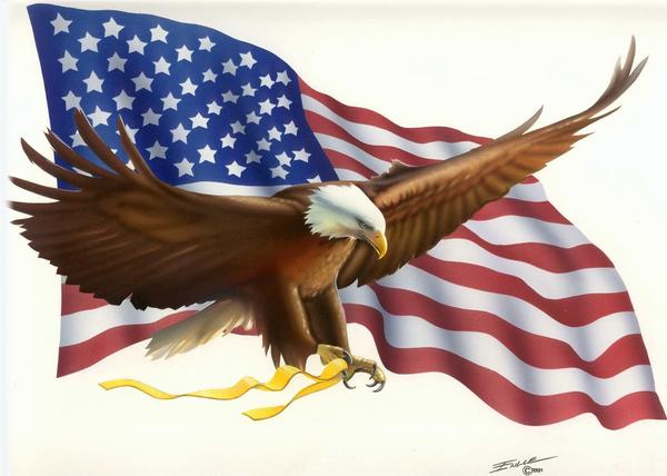 Flag And Eagle Clipart.