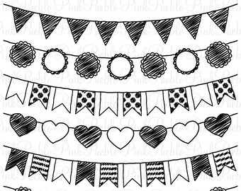 Flag Banner Clipart Black And White.