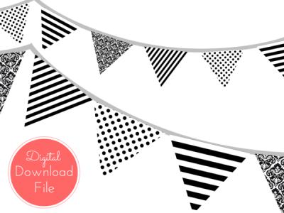 Printable Instant Download Banners & Buntings.
