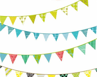 Triangle Flag Banner Clipart.