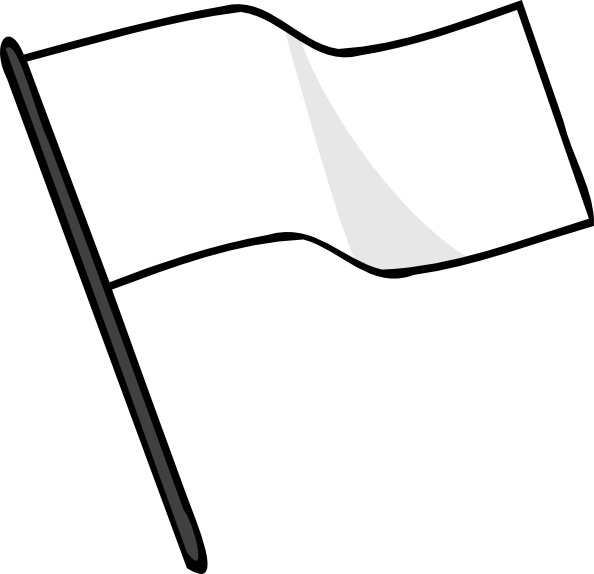 Waving White Flag clip art Free vector in Open office.