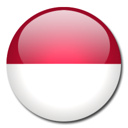 Button Flag Indonesia Icon, PNG ClipArt Image.