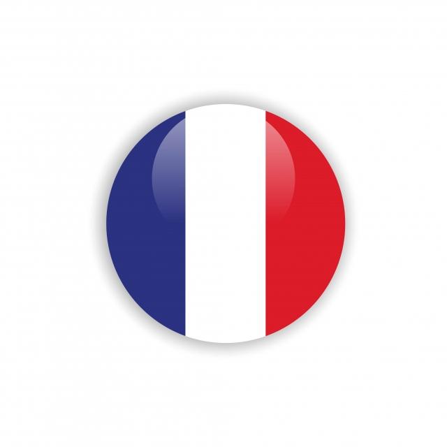 Button France Flag Vector Template Design, Flag, France, Button PNG.