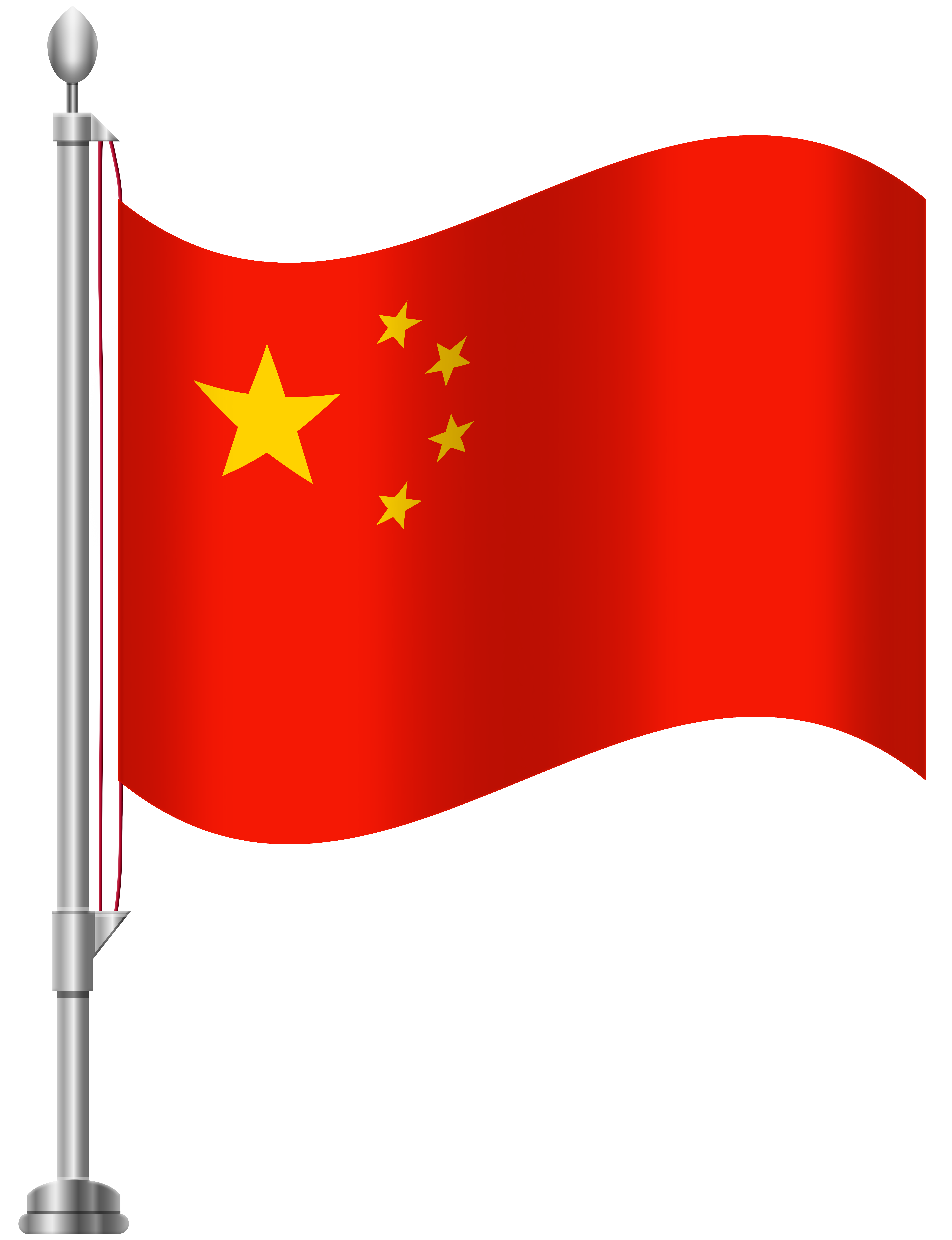 China Flag PNG Clip Art.