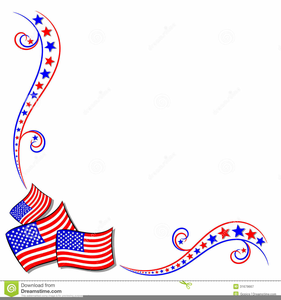 Free Clipart Border American Flags.